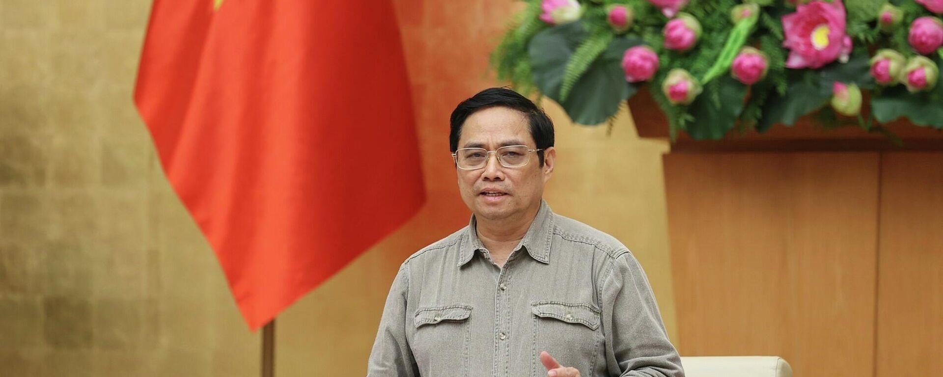 Thủ tướng Phạm Minh Chính chủ trì họp BCĐ Quốc gia phòng, chống dịch COVID-19 - Sputnik Việt Nam, 1920, 09.10.2021