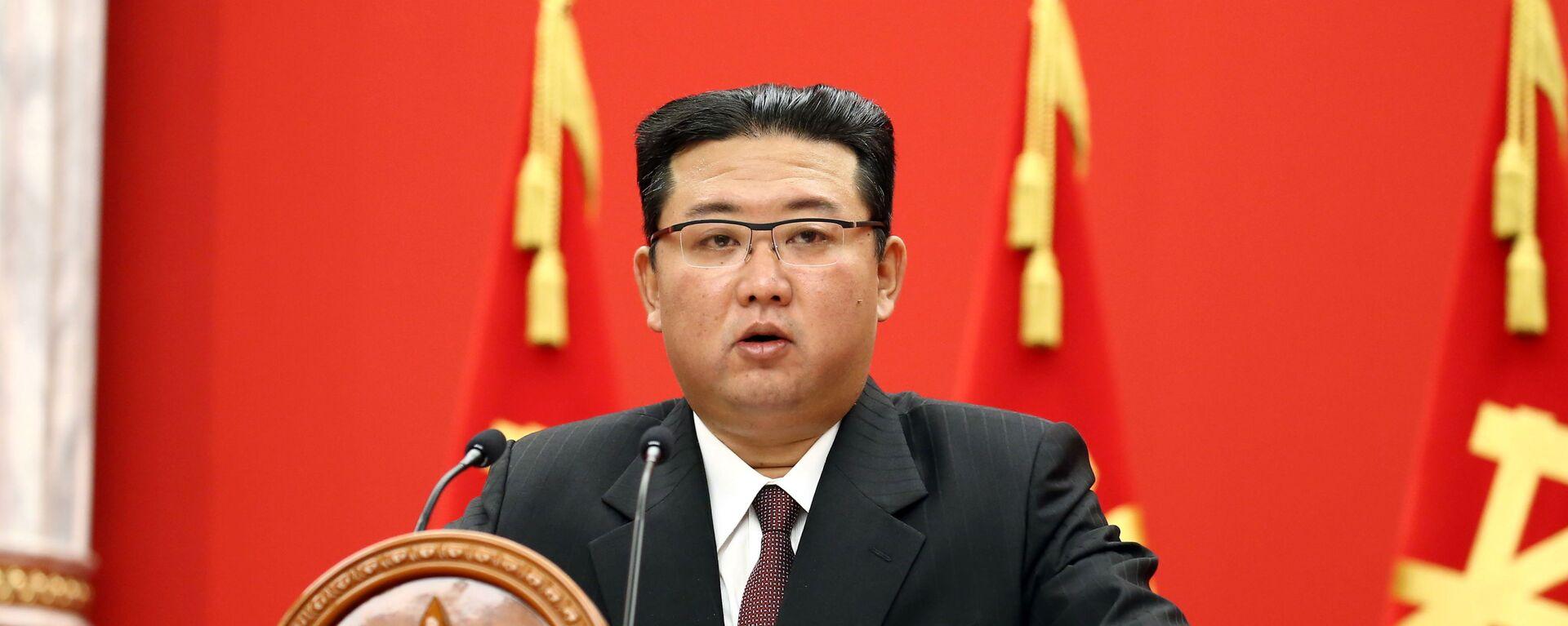 Nhà lãnh đạo CHDCND Triều Tiên Kim Jong-un - Sputnik Việt Nam, 1920, 12.10.2021