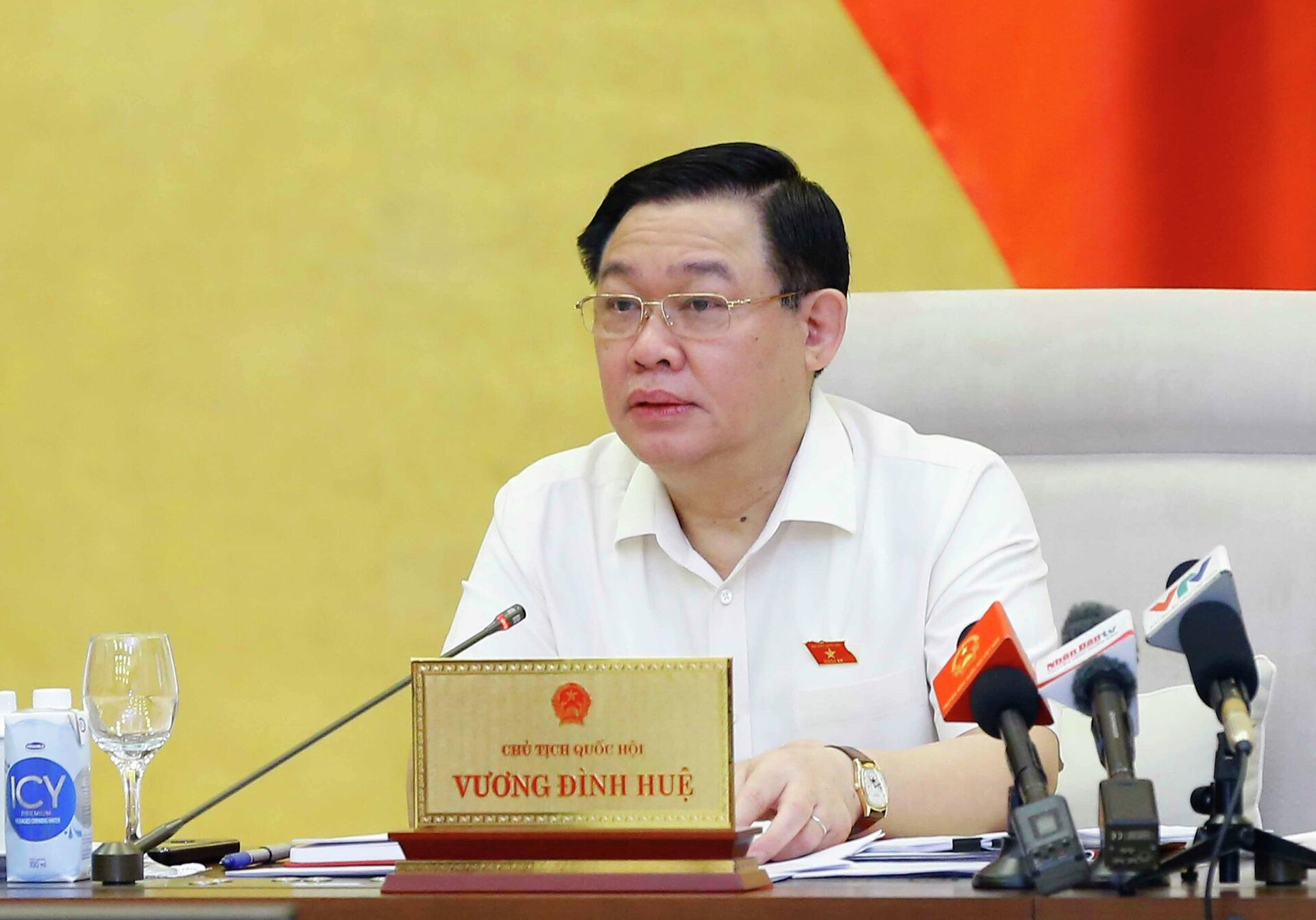 Chủ tịch Quốc hội Vương Đình Huệ phát biểu  - Sputnik Việt Nam, 1920, 13.10.2021