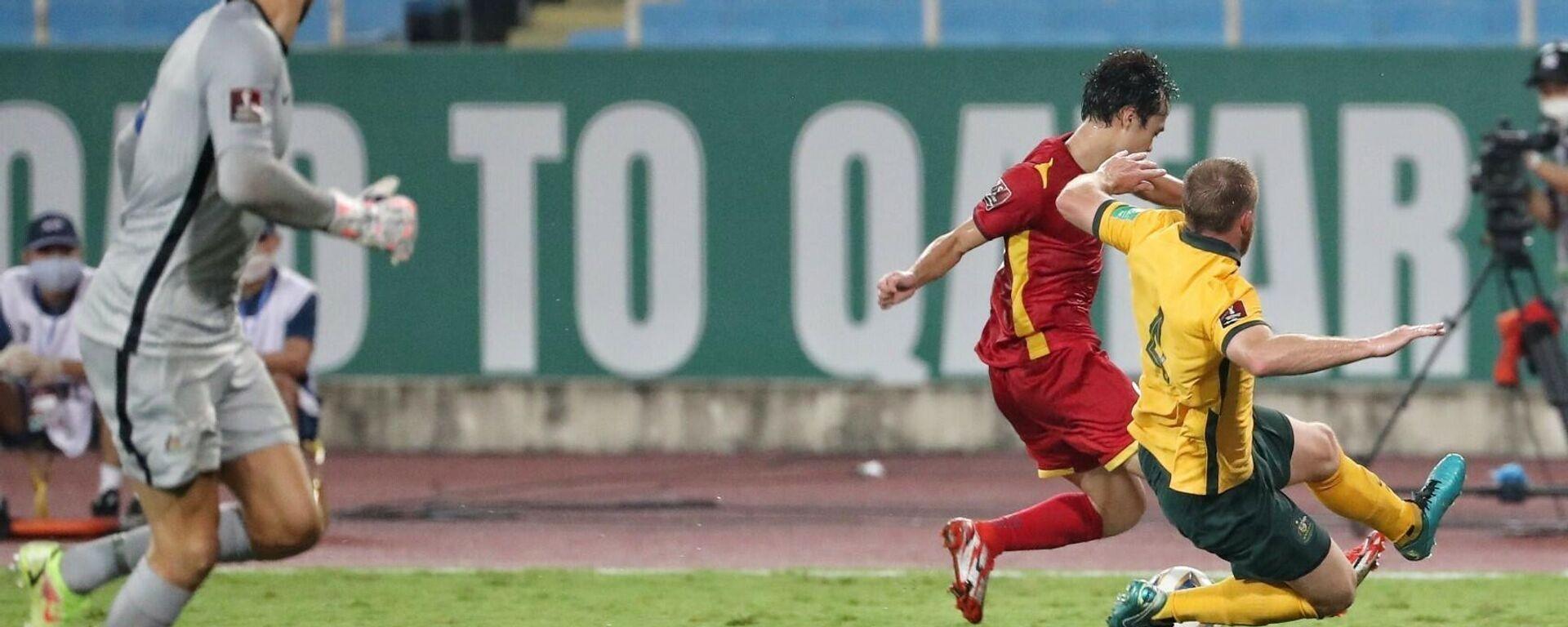 Trận đấu ở lượt trận thứ 2 giữa Việt Nam và Australia sẽ diễn ra ngày 7/9 trên sân vận động quốc gia Mỹ Đình. - Sputnik Việt Nam, 1920, 14.10.2021