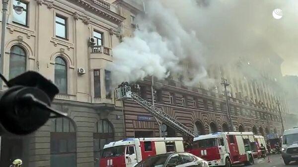 Пожар в здании торгпредства Вьетнама на Тверской-Ямской улице в Москве - Sputnik Việt Nam