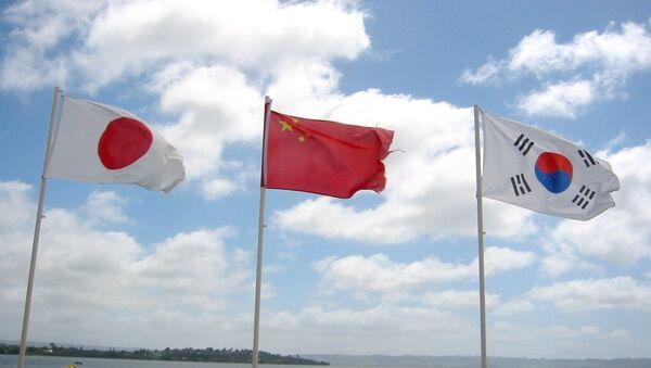 Quốc kỳ Nhật Bản, Trung Quốc và Hàn Quốc - Sputnik Việt Nam