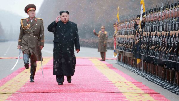 Nhà lãnh đạo Kim Jong-un trong chuyến thăm Bộ Quốc phòng CHDCND Triều Tiên - Sputnik Việt Nam