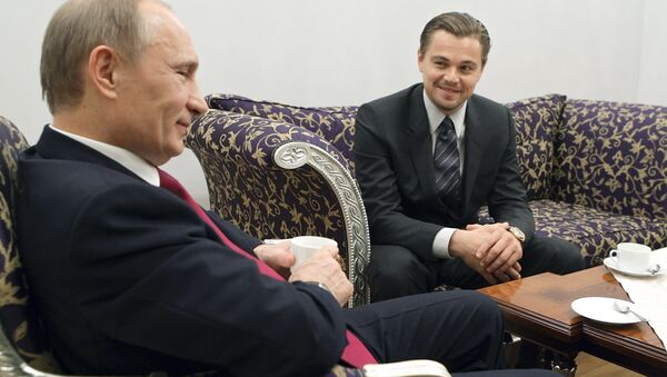 Leonardo DiCaprio  và Vladimir Putin - Sputnik Việt Nam