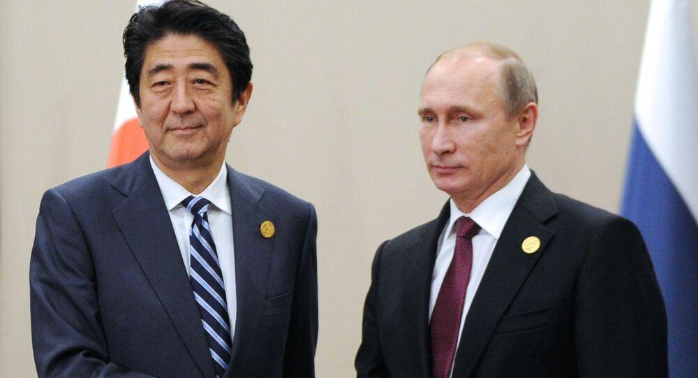 Vladimir Putin và Shinzo Abe
