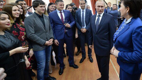 Vladimir Putin ở Đại học Liên bang  Bắc Kavkaz - Sputnik Việt Nam