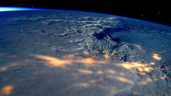 Bão  tuyết  ở Mỹ nhìn từ  vũ trụ - Sputnik Việt Nam