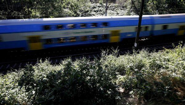 Поезд проезжает в окрестностях польского города Валбжих, где ведутся поиски нацистского золотого поезда - Sputnik Việt Nam