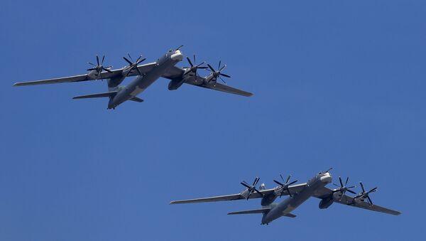 Máy bay ném bom mang tên lửa Tu-95MS của Nga - Sputnik Việt Nam