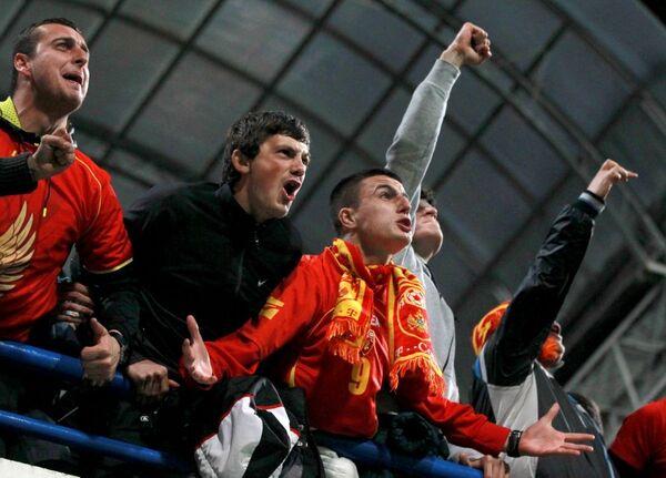 Cổ động viên trận đấu vòng loại Giải vô địch bóng đá châu  Âu 2016 giữa đội tuyển quốc gia Montenegro và Nga. - Sputnik Việt Nam