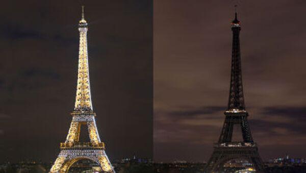 Tháp Eiffel tắt đèn - Sputnik Việt Nam
