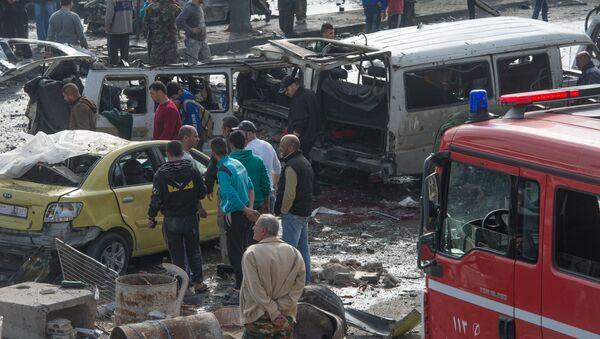 Vụ nổ ở thành phố Homs của Syria - Sputnik Việt Nam