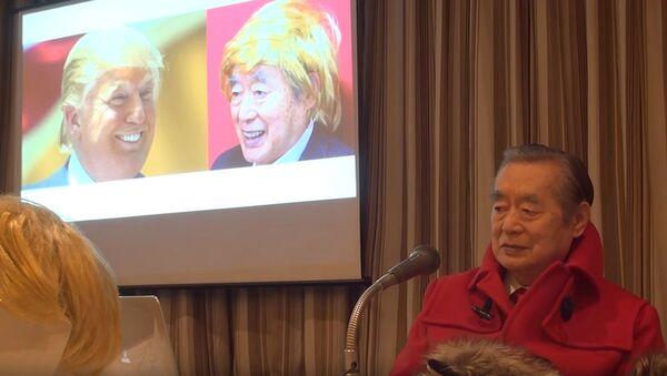 Nhà phát minh Nhật Bản làm bộ tóc giả tự vệ dành cho Donald Trump - Sputnik Việt Nam
