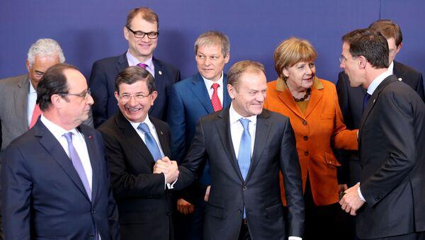 Lãnh đạo của Liên minh châu Âu và Thủ tướng Thổ Nhĩ Kỳ - Sputnik Việt Nam