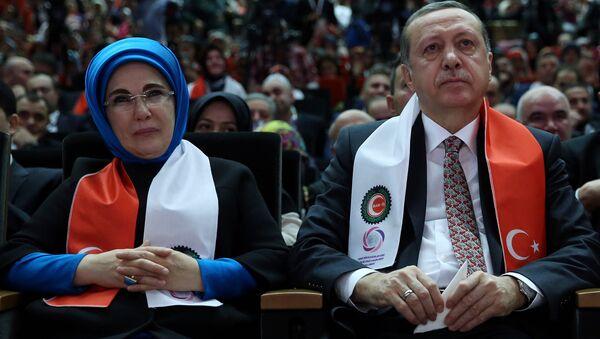 Bà Emine Erdogan và Recep Tayyip Erdogan - Sputnik Việt Nam