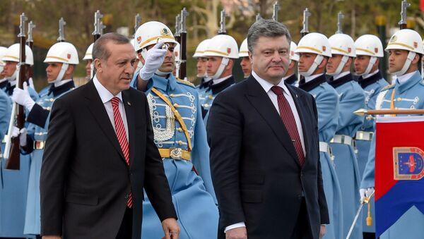 Recep Tayyip Erdogan và Petro Poroshenko - Sputnik Việt Nam