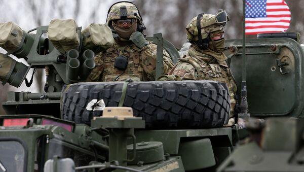 Đoàn xe thiết giáp quân sự Mỹ mang tên Dragoon Ride - Sputnik Việt Nam