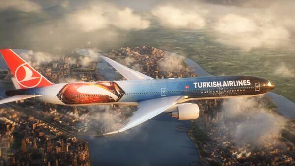 Hãng hàng không Turkish sơn máy bay vinh danh Batman - Sputnik Việt Nam
