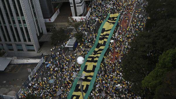 Сuộc biểu tình chống Tổng thống Brazil Dilma Rousseff - Sputnik Việt Nam