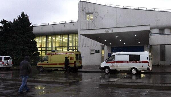 Xe cứu thương tại sân bay Rostov-na-Donu - Sputnik Việt Nam