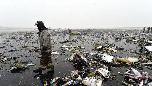 Chiếc máy bay chở khách Boeing 737-800 đã bị rơi tại sân bay Rostov-na-Donu - Sputnik Việt Nam