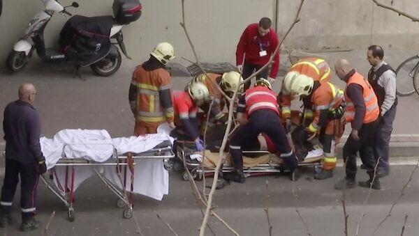 Nạn nhân của vụ nổ trong ga tàu ̣điện ngầm Brussels - Sputnik Việt Nam