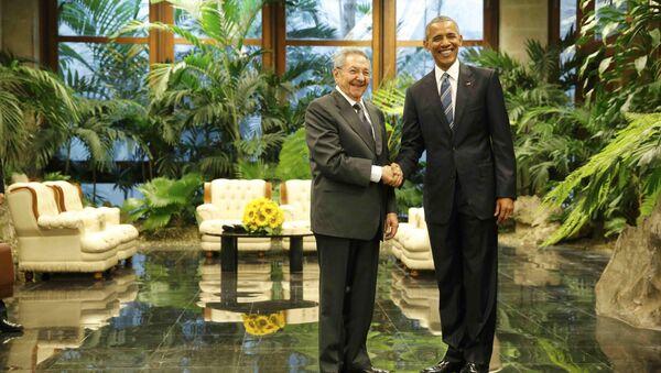 Barack Obama và Raul Castro - Sputnik Việt Nam