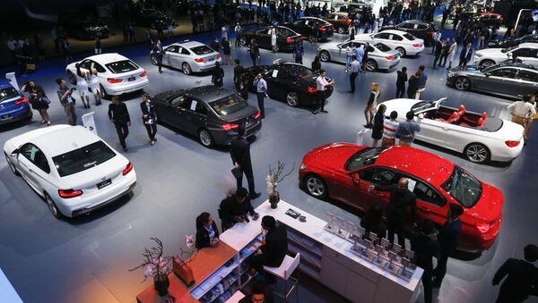Khách thăm cuộc triển lãm ôtô quốc tế lần thứ 37 tại Bangkok, Thái Lan - Sputnik Việt Nam