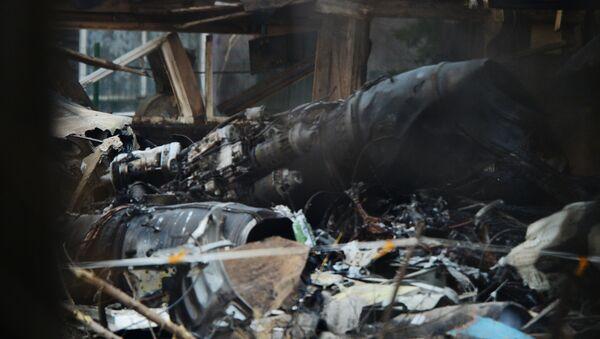 Một chiến đấu cơ SU-25 vừa bị rơi ở khu vực làng Chernigovka thuộc vùng Primorye - Sputnik Việt Nam