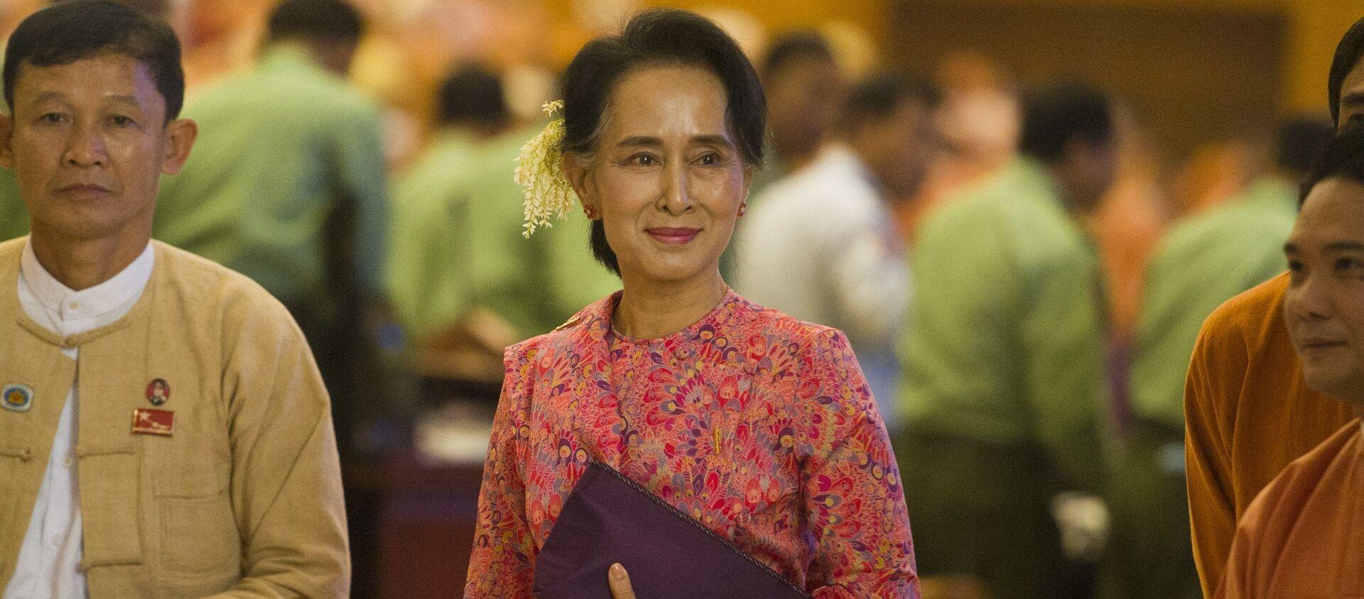 Cựu cố vấn nhà nước của Myanmar, người đoạt giải Nobel Aung San Suu Kyi. - Sputnik Việt Nam, 1920, 01.04.2021