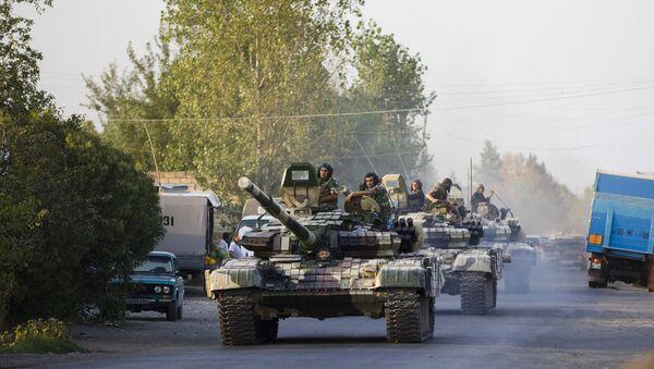 Xe tăng của  quân đội Azerbaijan - Sputnik Việt Nam