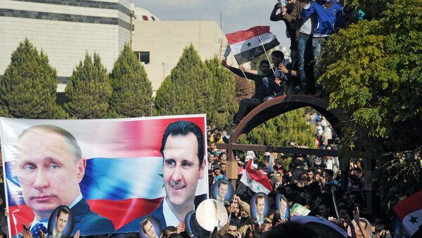 Vladimir Putin, Bashar al-Assad - Sputnik Việt Nam