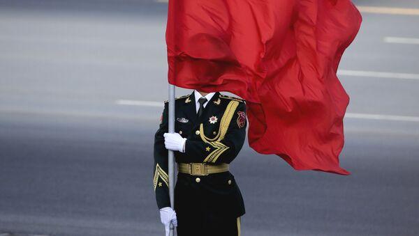 Vệ binh danh dự với cờ  Trung Quốc ở Bắc Kinh - Sputnik Việt Nam