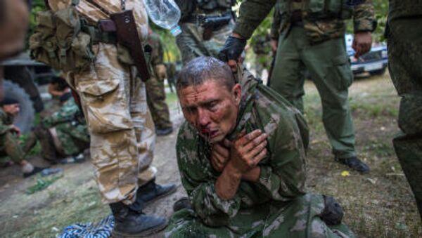 Lính dù Ukraine bị bắt làm tù binh trong trận đánh chiếm thành phố Shakhtersk - Sputnik Việt Nam