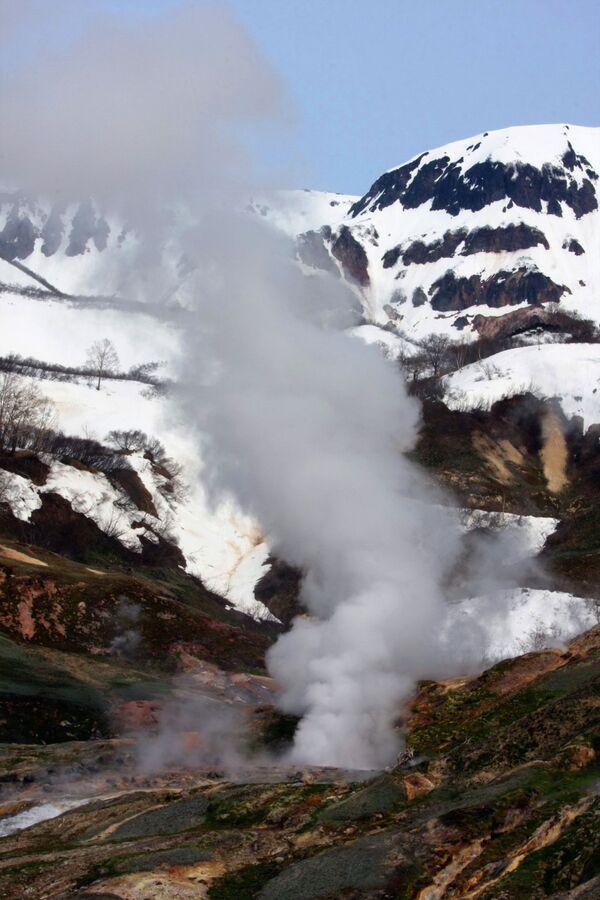Mạch nước phun trào Velikan ở Thung lũng Geyser, thuộc Kamchatka - Sputnik Việt Nam