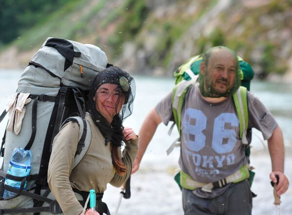 Khách du lịch tại Thung lũng Geysers trong Khu bảo tồn thiên nhiên Kronotsky - Sputnik Việt Nam