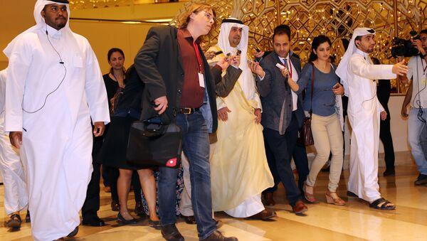 Bộ trưởng tài chính Kuwaiti  Anas al-Saleh đến dự hôi cuộc gặp  các nước OPEC tại Doha - Sputnik Việt Nam