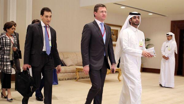 Bộ trưởng năng lượnh Nga Alexander Novak tại Doha - Sputnik Việt Nam