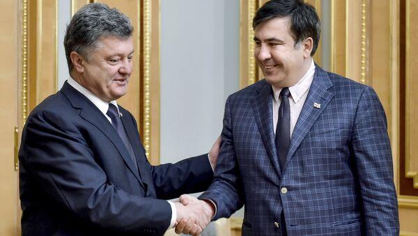 Mikhail Saakashvili gặp Tổng thống Ukraine Petro Poroshenko - Sputnik Việt Nam