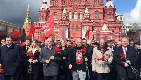 Võ sỹ Monson và ông Zyuganov viếng lăng nhân sinh nhật Lenin - Sputnik Việt Nam