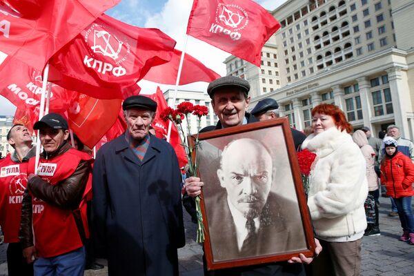 Những người cộng sản trong ngày sinh Lenin trên Quảng trường Đỏ - Sputnik Việt Nam