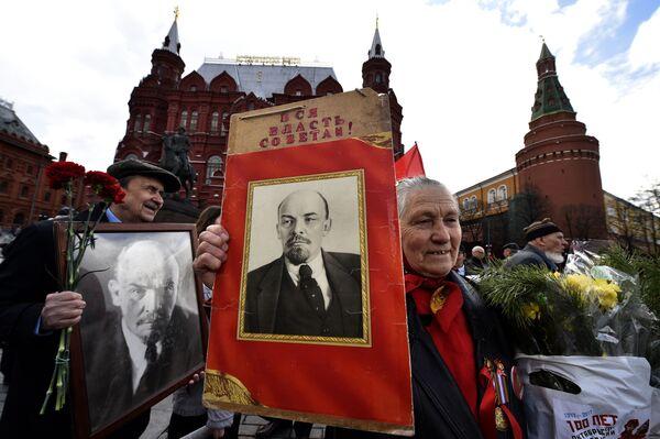 Những người cộng sản kỷ niệm ngày sinh Lenin trên Quảng trường Đỏ - Sputnik Việt Nam