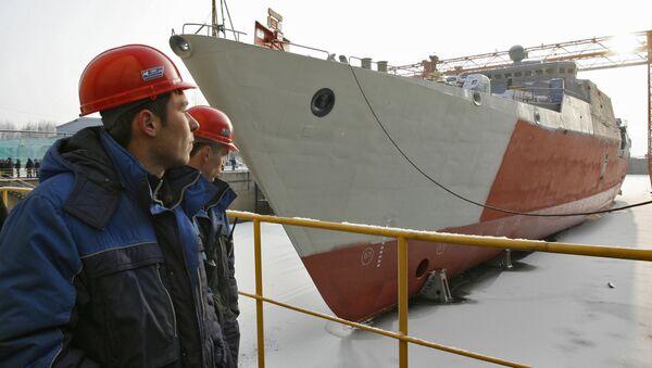 Lễ khánh thành tàu khu trục Gepard - 3.9 dành cho Hải quân Việt Nam - Sputnik Việt Nam