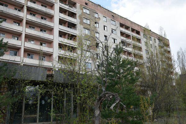 Nhà ở bỏ hoang sau vụ tai nạn nhà máy điện hạt nhân Chernobyl - Sputnik Việt Nam