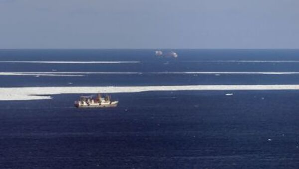Hoạt động tìm kiếm cứu hộ trong khu vực chìm tàu cá ở biển Okhotsk. - Sputnik Việt Nam