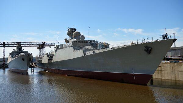 Hạ thủy tại Tatarstan tàu Gepard 3.9 thứ ba xây dựng cho Hải quân Việt Nam - Sputnik Việt Nam