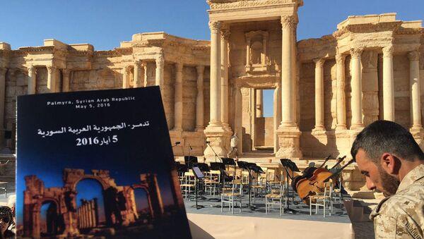 Dàn nhạc nổi tiếng của Nga biểu diễn ở Palmyra - Sputnik Việt Nam