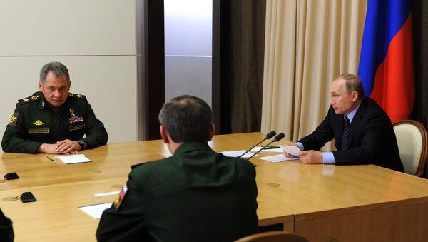 Tổng thống Putin tại cuộc họp với các lãnh đạo quân sự và  khối công nghiệp quốc phòng - Sputnik Việt Nam