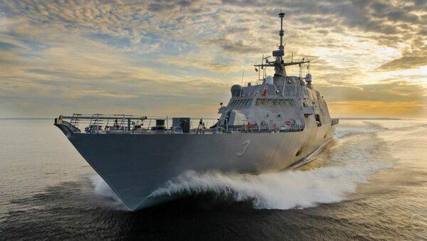 Tàu tác chiến thế hệ mới USS Fort Worth (LCS3) - Sputnik Việt Nam