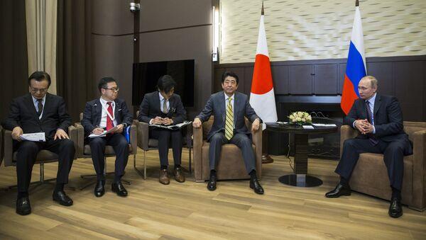 Tổng thống Nga Vladimir Putin gặp Thủ tướng Nhật Bản Shinzo Abe tại Sochi - Sputnik Việt Nam